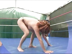 Busty Mature Wrestling