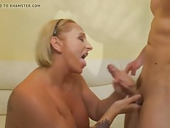 Chubby mature blonde likes sex