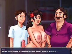 Summertime Saga- Fucking Maria in front of her husband
