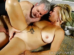 Saucy old spunker is a super hot fuck & loves sticky facials