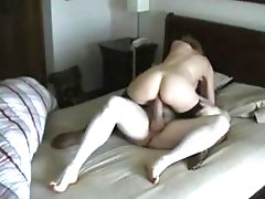 in the hotel punishing my aunt with my huge cock!