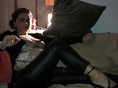 Leather pants smoking