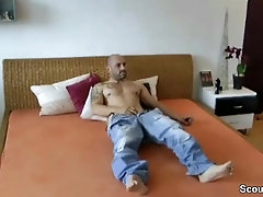 German Mom caught Step-Son and Help him to Cum
