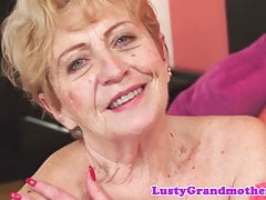 Chubby granny pussyfucked by young cock