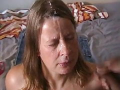 Mature takes a huge facial from a BBC