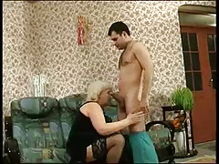 Granny Louisa in stockings isn't ill but needs a good fuck