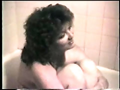 x Curly haired wife naked in the bathtub (short)